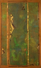 Ganesh Haloi VERDANCY 3 Mixed media on board 30 x 18 in