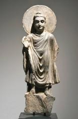 Standing Buddha Ancient Region of Gandhara Grey schist 2nd - 4th Century 15 in.