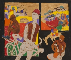 M. F. Husain Autobiography Pechwel n/d Oil on canvas 60 x 60 in