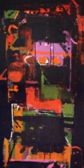 John Tun Sein UNTITLED ABSTRACT 3 (diptych) 2007 Acrylic on Canvas 48 X 24 in.