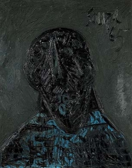 F. N. Souza HEAD 1965 Oil on board 29 x 23 in.