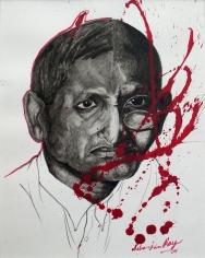 Debanjan Roy  Untitled 8, 2009  Acrylic on paper  14 x 11 in