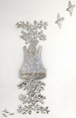 Adeela Suleman UNTITLED 4 (SUICIDE JACKET WITH LEMON TREE) 2010 Stainless steel 65 x 20 in. (Dimension variable)
