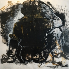 Jagath Weerasinghe  Untitled (1), 2016  Acrylic on paper  39.50 x 39 in