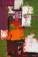 John Tun Sein UNTITLED ABSTRACT 2 (diptych) 2007 Acrylic on Canvas 60 X 40 in.  SOLD