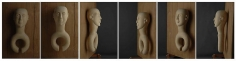 Mayyur Gupta SPIRIT I 2007 - 08 Wood 28 x 12 x 10 in. (Multiple views of the same sculpture)