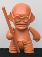 Debanjan Roy  Toy Gandhi 1 (Small Muni Doll), 2019  Fiberglass and automotive paint  15 x 12 x 8 in