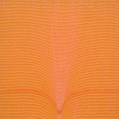 Shobha Broota  Untitled (Orange), 2017  Wool on canvas  30h x 30w in