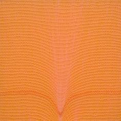 Shobha Broota  Untitled (Orange), 2017  Wool on canvas  30h x 30w in