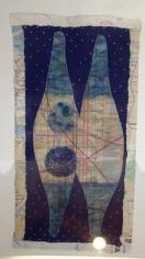 Talha Rathore UNTITLED BLUE 2009 Gouache on wasli 18 x 9.5 in.  NFS