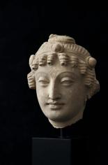 Bodhisattva Head Ancient Region of Gandhara Stucco 3rd/4th Century 6 in.