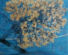 G.R. Iranna Springtime Blossom 2016 Oil on tarpaulin 66 x 54 in.