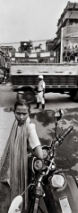 Raghu Rai TRAFFIC CONSTABLE AND HORSE BAGGHIE, KOLKATA 2004 Digital scan of photographic negative on archival paper 54 x 20 in.