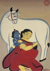 Jamini Roy UNTITLED (YASHODA AND KRISHNA) ND Gouache on card 30 x 21 in