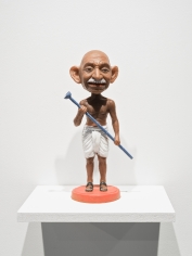 Debanjan Roy  Toy Gandhi 7 (Small Bobblehead)  2019  Silicone and automotive paint  16 x 12 x 8 in