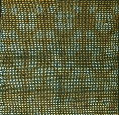 Shobha Broota  Untitled (Green Pattern), 2017  Wool on canvas  40h x 40w in