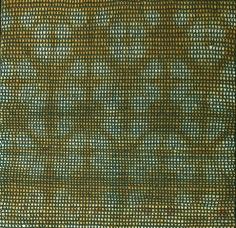 Shobha Broota  Untitled (Green Pattern), 2017  Wool on canvas  40h x 40w in