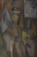 Ram Kumar MOTHER 1957 Oil on canvas 32.5 x 20 in.