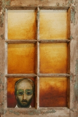 Anjolie Ela Menon MAN FROM BOMBAY 1983 Oil on masonite 36 x 23 in.  SOLD