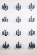 Gigi Scaria  Trial, 2017  Bronze and plastic  7 x 4 x 5 in. (x12)