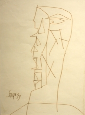 F. N. Souza UNTITLED DRAWING 1 1959 Pencil, pen and ink on paper 9.5 x 7 in.