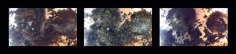 Nitin Mukul CRATER (SEQUENTIAL TRIPTYCH) 2014 C-print on metallic paper