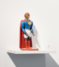 Debanjan Roy  Toy Gandhi 4 (Small Superhero), 2019  Silicone and automotive paint  15 x 8.5 x 7.5 in