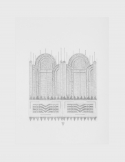 Seher Naveed  Contraption 1, 2021  Graphite on paper  15.75 x 11.75 in