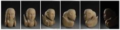 Mayyur Gupta GUARDIAN II 2008 Wood UNAVAILABLE 18.5 x 11 x 12 in. (Multiple views of the same sculpture)
