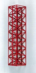 Rasheed Araeen Lal Kona 1969 Wood, paint 57 x 12 x 12 in. NFS