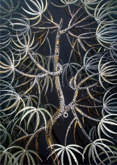 Rajan Krishnan  Plant from the Grove by the River 2, 2011  Acrylic on canvas  84 x 60 in