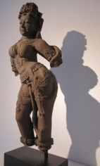 Surasundari (Celestial Female) Central India 11th century Sandstone Height: 26 in.  NFS