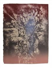 Nitin Mukul  Blizzard of 78, 2018  Unique viscosity monoprint  11 x 15 in