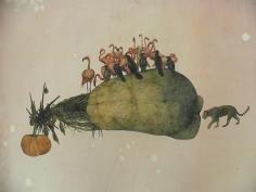 Avishek Sen, Untitled, 2014, Watercolor on paper, 29 x 40 in