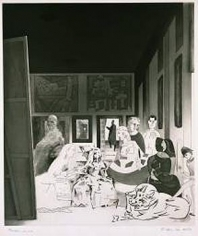 Richard Hamilton PICASSO'S MENINAS 1973 Print on paper 22.5 x 19 in.  NFS