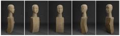 Mayyur Gupta SPIRIT II 2007 Wood 36.5 x 10 x 8.5 in. UNAVAILABLE (Multiple views of the same sculpture)