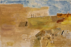 Ram Kumar ABSTRACT LANDSCAPE 7 2004 Acrylic on paper 20 x 30 in.