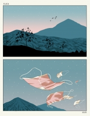 Anuj Shrestha  Flock, 2020  Digital print  20.50h x 17.75w in
