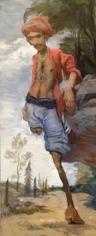 Salman Toor  Crippled Ancestor  2015  Oil on canvas  26 x 10.5 in.