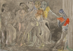 Laxma Goud Untitled (Orgy) 1991 Pencil and gouache on paper 11 x 15 in.