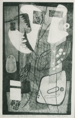 Orientation of Closed Forms, 1945, etching, ed. 20, 15 3/4 x 9 3/4 in.