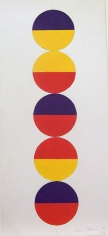 Untitled, 1968, acrylic and graphite on paper, 19 1/8 x 8 5/8 in.