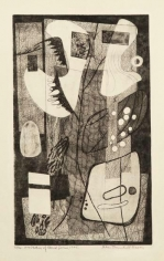 Orientation of Closed Forms, 1945, etching on paper, 15 3/4 x 9 3/4 in., ed. 13/20
