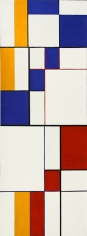 Diagonal Passage: Red-Blue-Yellow, 1949, oil on canvas, 54 x 20 in.