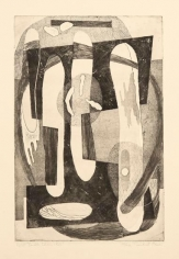 Double Idiom, 1946, etching on paper, 20 x 15 1/4 in., ed. 24/25