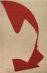 Leon Polk Smith, Untitled, 1964, torn paper drawing, 39 x 25 in., signed and dated l.r.