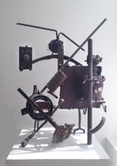 Richard Stankiewicz, Untitled (1952-12), welded steel and found objects, 29 1/4 x 23 3/4 x 18 in.
