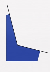Leon Polk Smith, Space with Blue, 1990, acrylic on canvas, 80 x 56 1/4 in.
