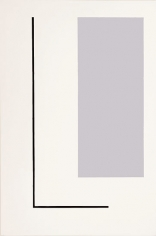 Grey Rectangle - Black Line, 1992, oil on canvas, 72 x 48 in.
