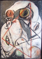 Untitled (Head with Polygons), CR#66, 1938-41, oil on canvas